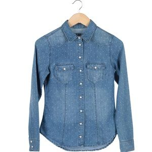 H&M polka dot denim shirt